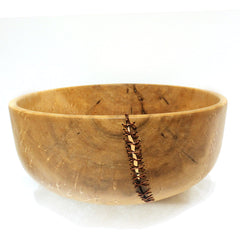 Bird's Eye Maple Copper Stitched Bowl