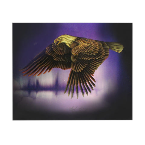 Eagle with Purple Background
