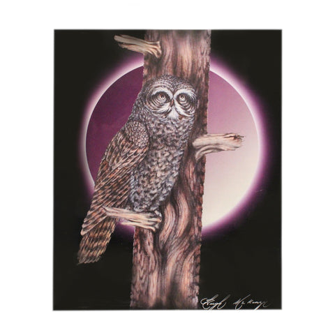 Owl with Purple Eclipse