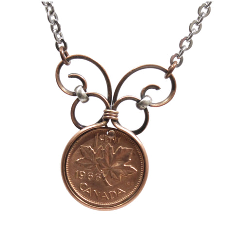 1966 Penny Stainless Steel Necklace