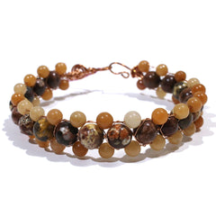 Mixed Jasper and Brown Bracelet by Lynn Quinn