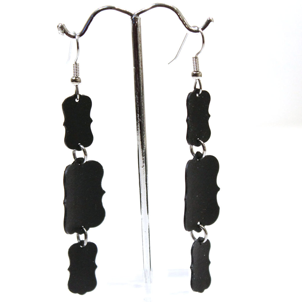 Triple Scroll Dangle Earrings