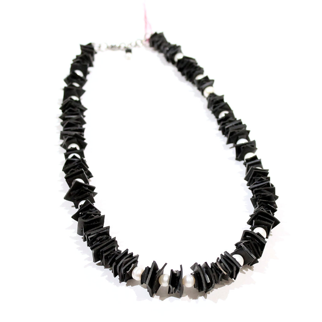 Spiky Necklace with Freshwater Pearls