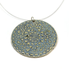 Ceramic Circle Pendant on Wire