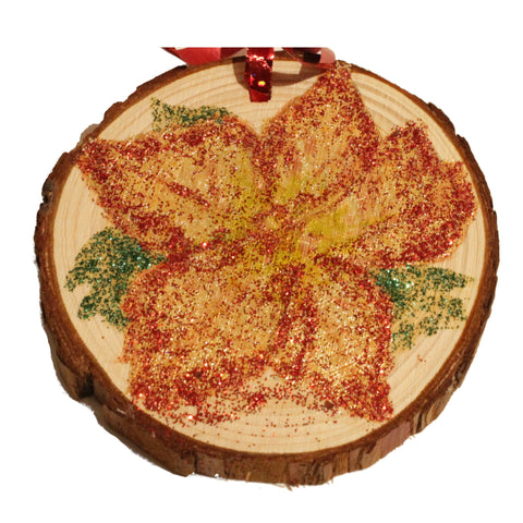 Gold and Red Leaf Ornament