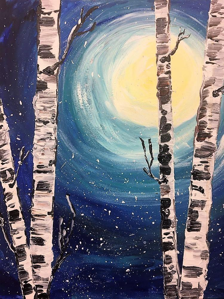 April Break Art Kits - April 16th, 2021: Birch Tree Landscape Painting