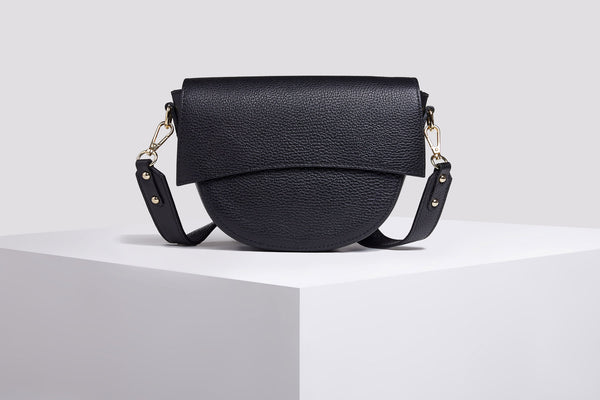 Black Messenger Bag - Leather Messenger Bag