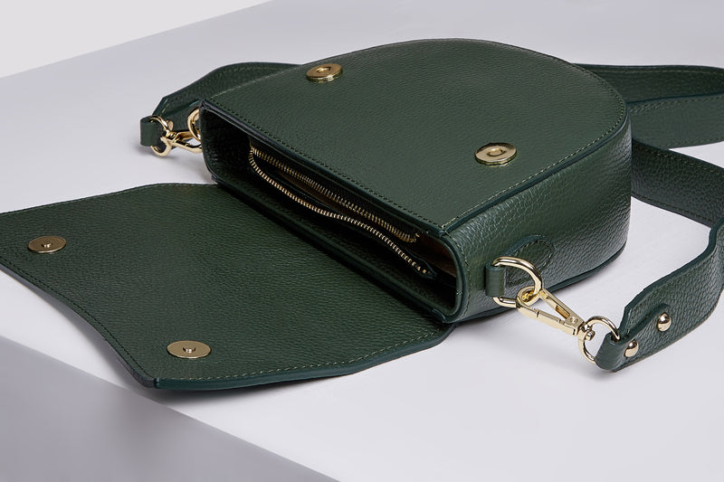 Green Messenger Bag - Leather Messenger Bag