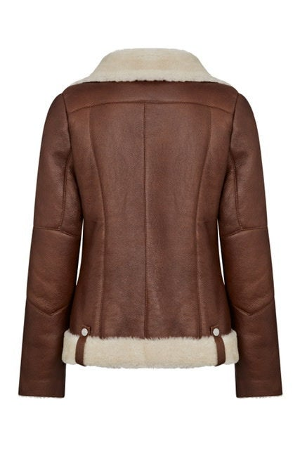 Shearling Pilot Jacket Women - Shearling Leather Jacket
