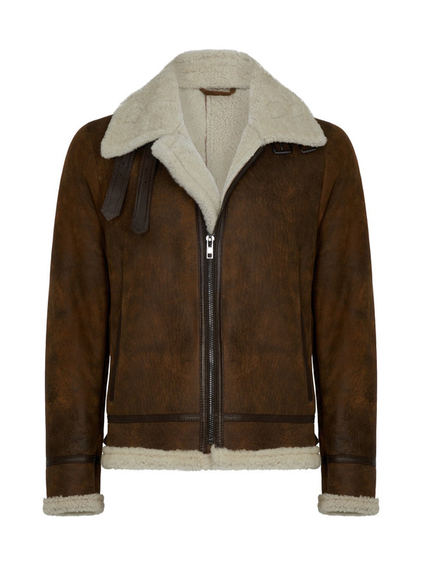 Men's Shearling Jacket - Shearling Pilot Jacket