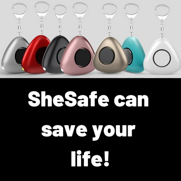 SheSafe - Personal Security Alarm Keychain