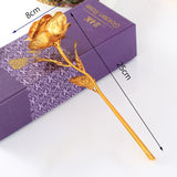 24KRose - 24K Gold Plated Rose Artificial Flower