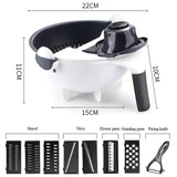 EasyChop - 12-in-1 Multipurpose Vegetable Cutter and Shredder With Drain Basket