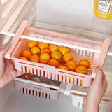 Fridge Drawer - Adjustable Stretchable Kitchen Refrigerator Storage Rack