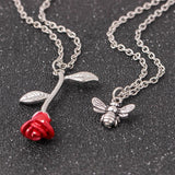 My Rose - Alloy Rose Pendant Necklace