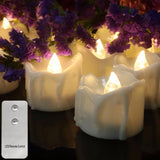 ReCandle - Pack of 12 LED Candles - Flickering Flame with Remote Control