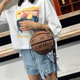 Basketball Handbag - Creative Design A hand bag just like a basketball
