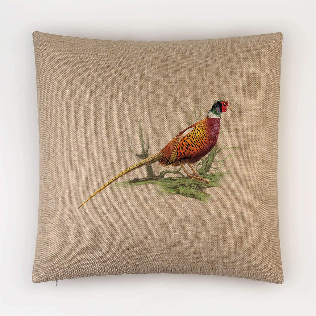Cock Pheasant on Branch Cushion - Countryman John