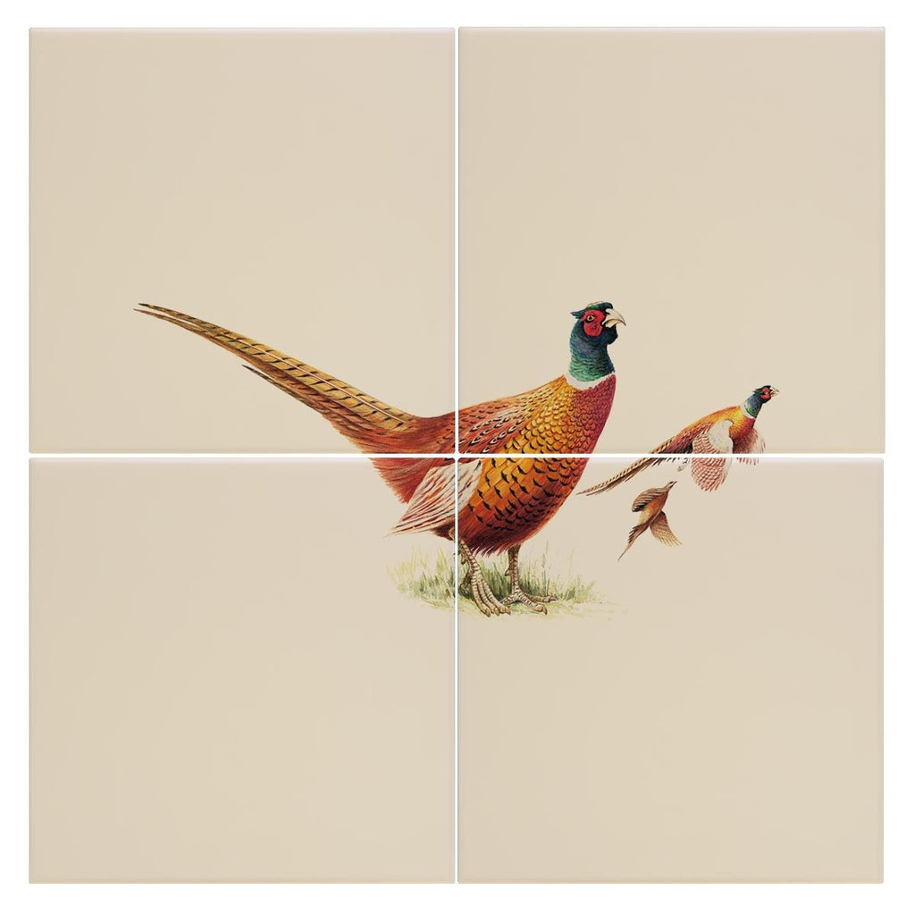 Cock Pheasants Tile - Countryman John