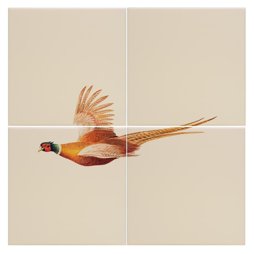 Pheasant in Flight Tile - Countryman John