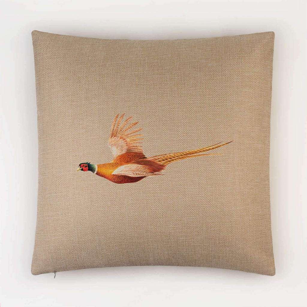 Pheasant in Flight Cushion - Countryman John