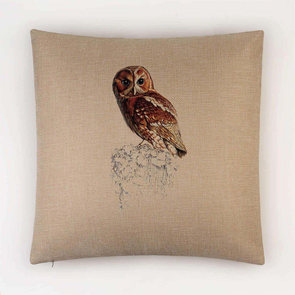 Tawny Owl Cushion - Countryman John