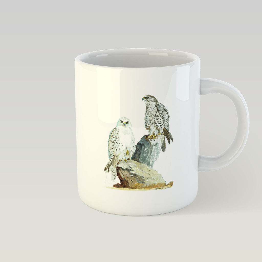 Sahar and Gyr Falcons Mug - Countryman John