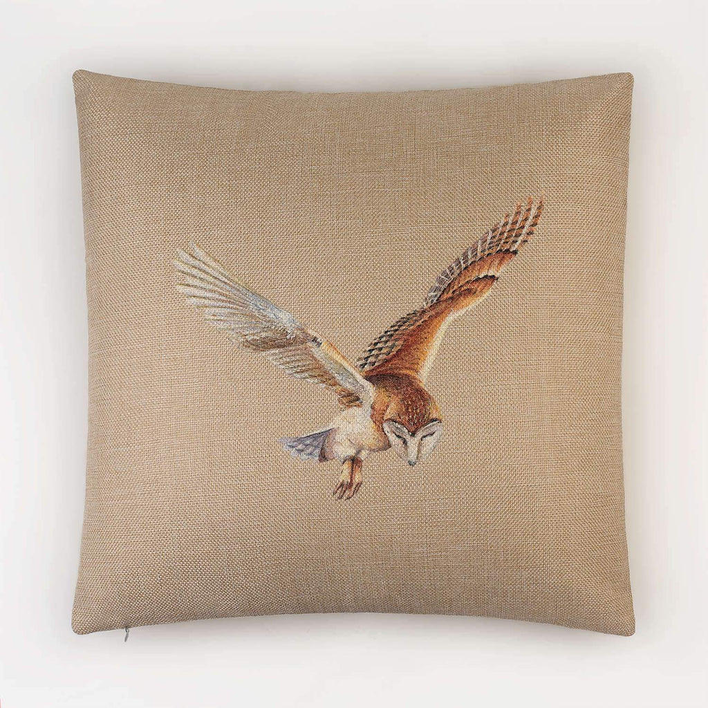 Barn Owl in Flight Cushion - Countryman John