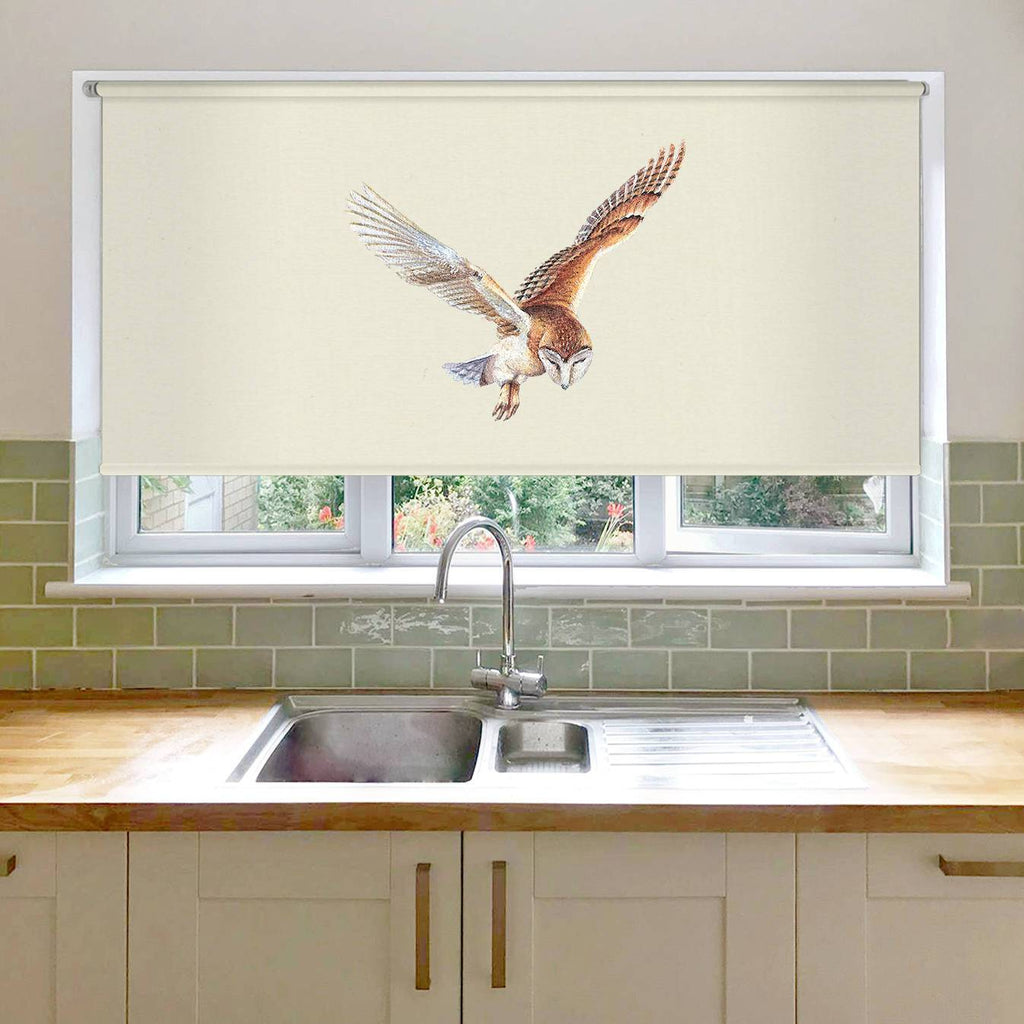 Barn Owl in Flight Roller Blind