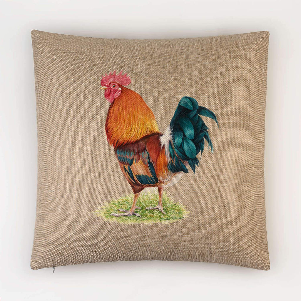 Cockerel Cushion - Countryman John