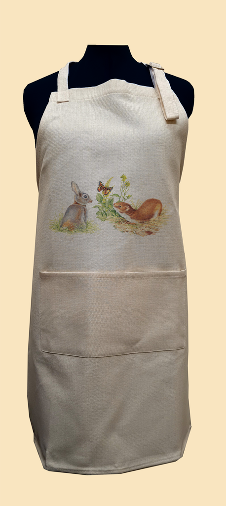 Rabbit and Stoat Apron
