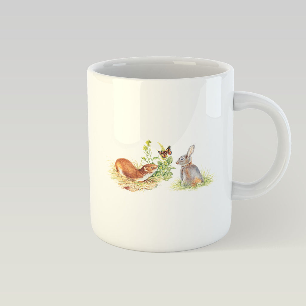 Rabbit and Stoat Mug - Countryman John