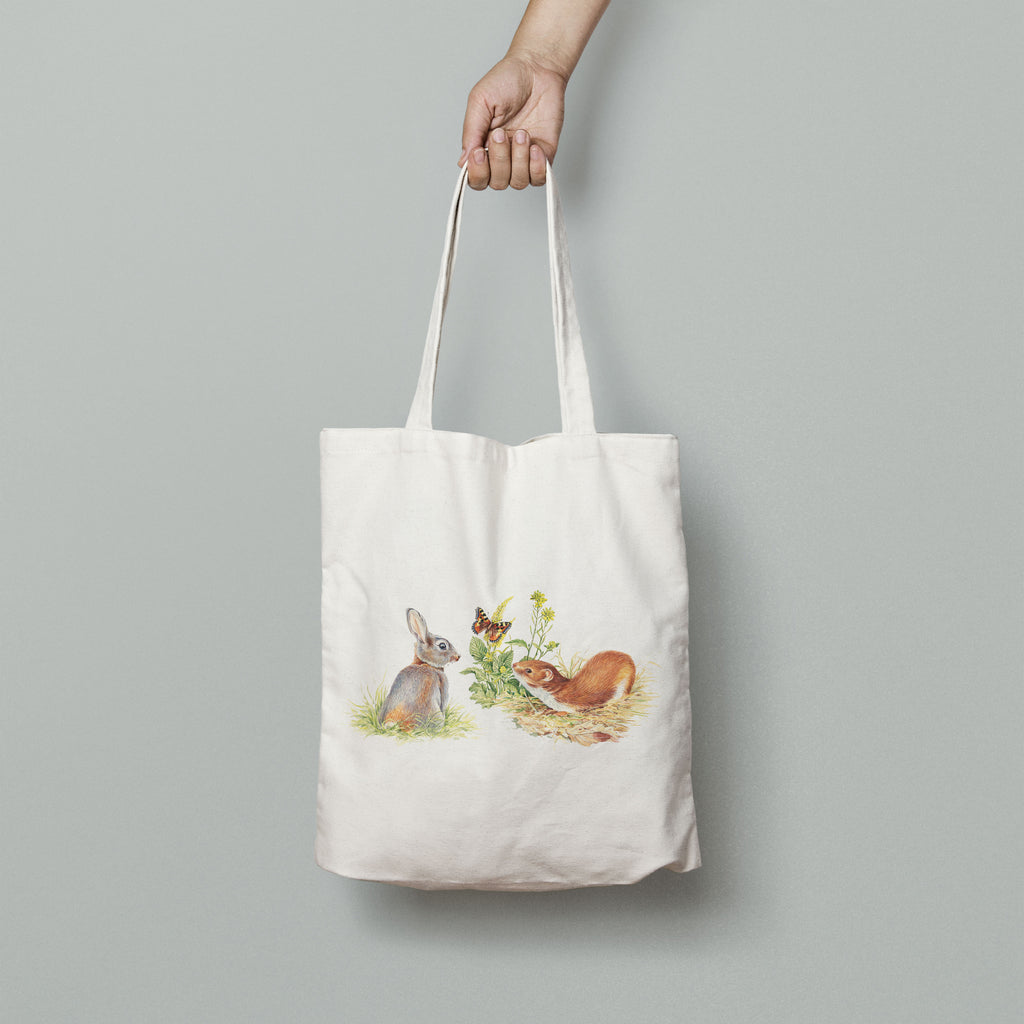 Rabbit and Stoat Tote Bag