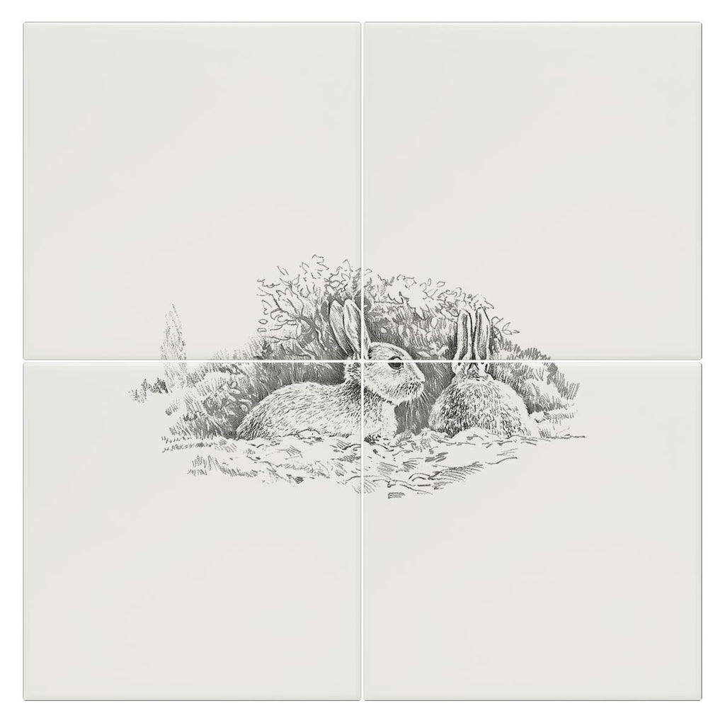 Wary Rabbits Tile - Countryman John