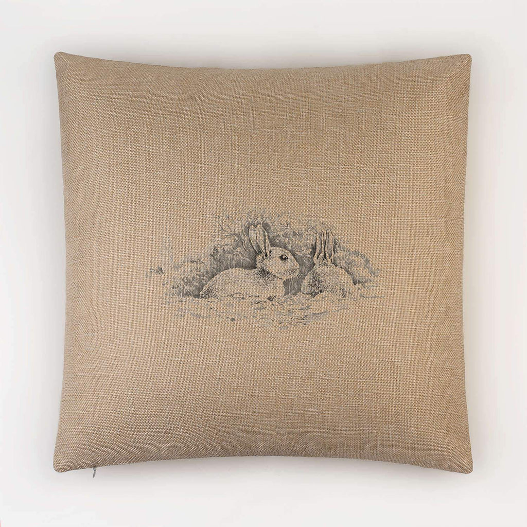 Wary Rabbits Cushion - Countryman John