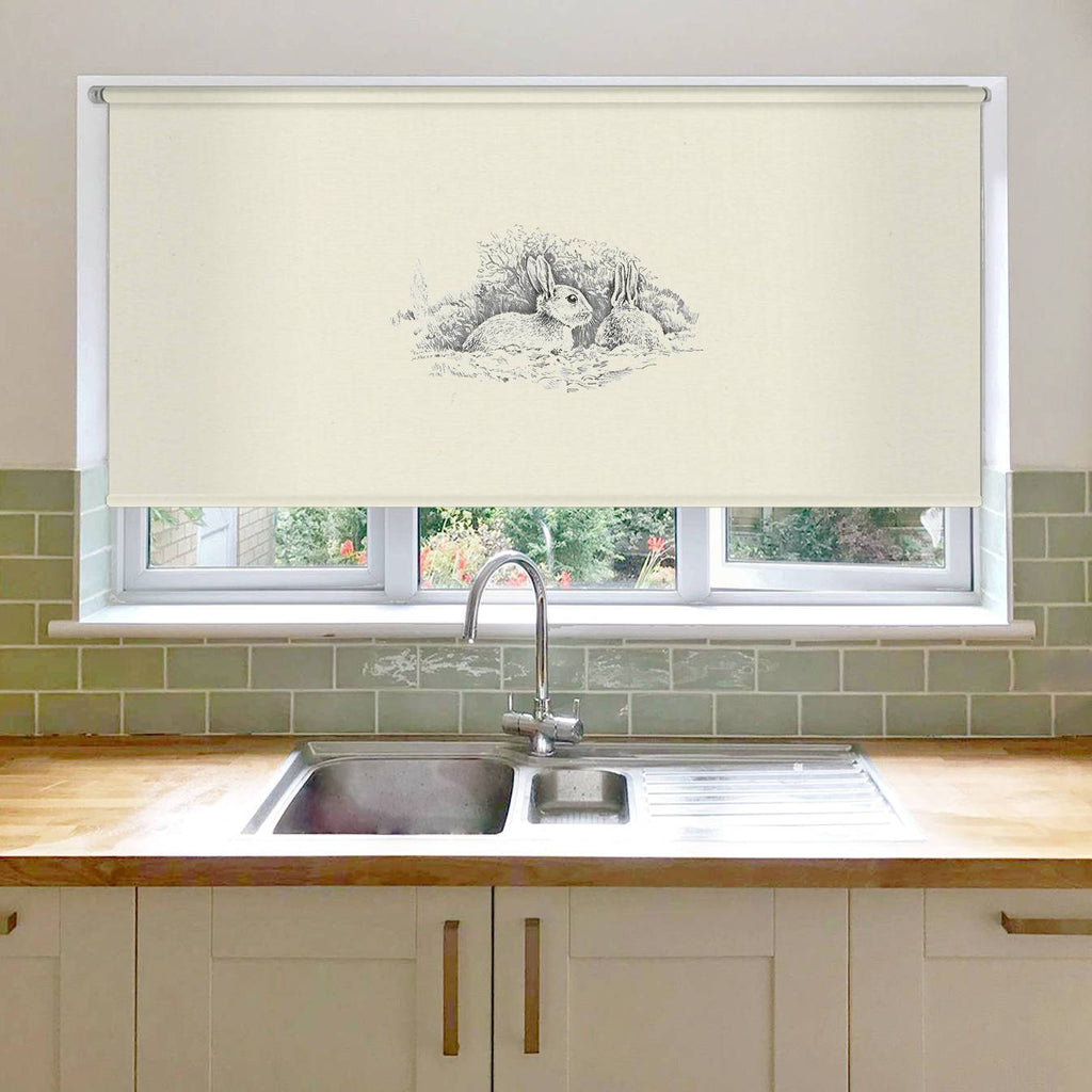 Wary Rabbits Roller Blind