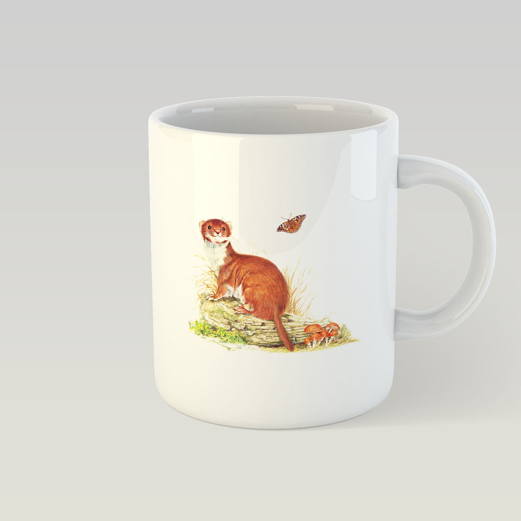 Stoat on Log Mug - Countryman John
