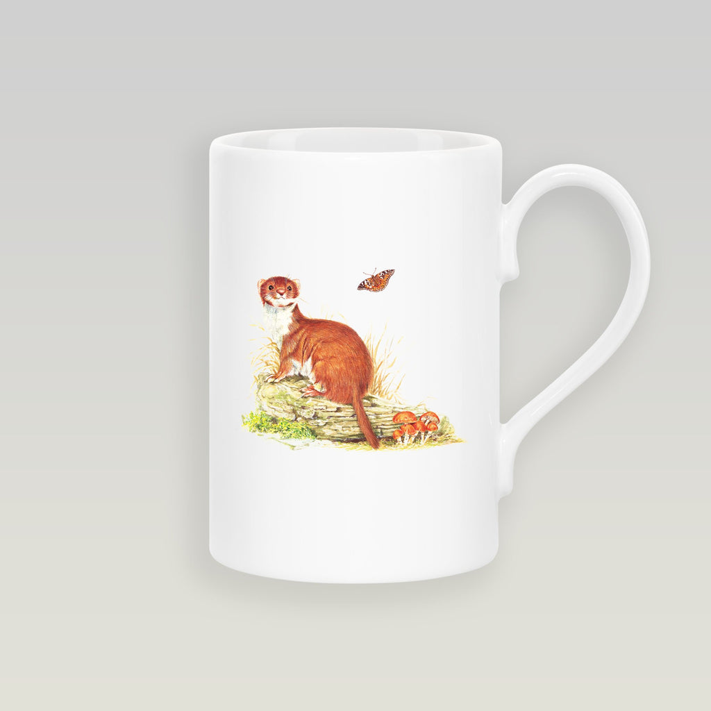 Stoat on Log Slim Mug - Countryman John