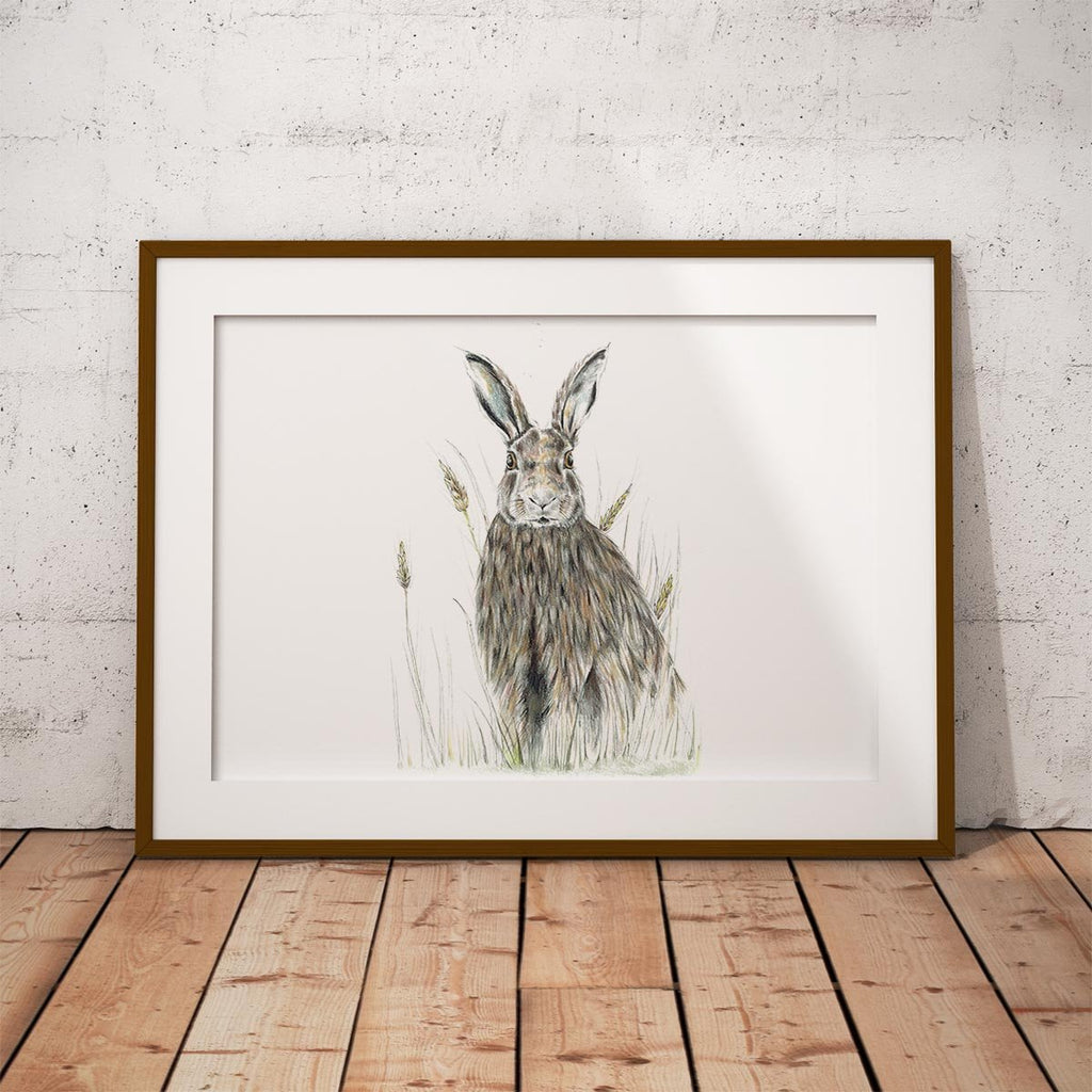 Hare in Wheat Wall Art Print - Countryman John