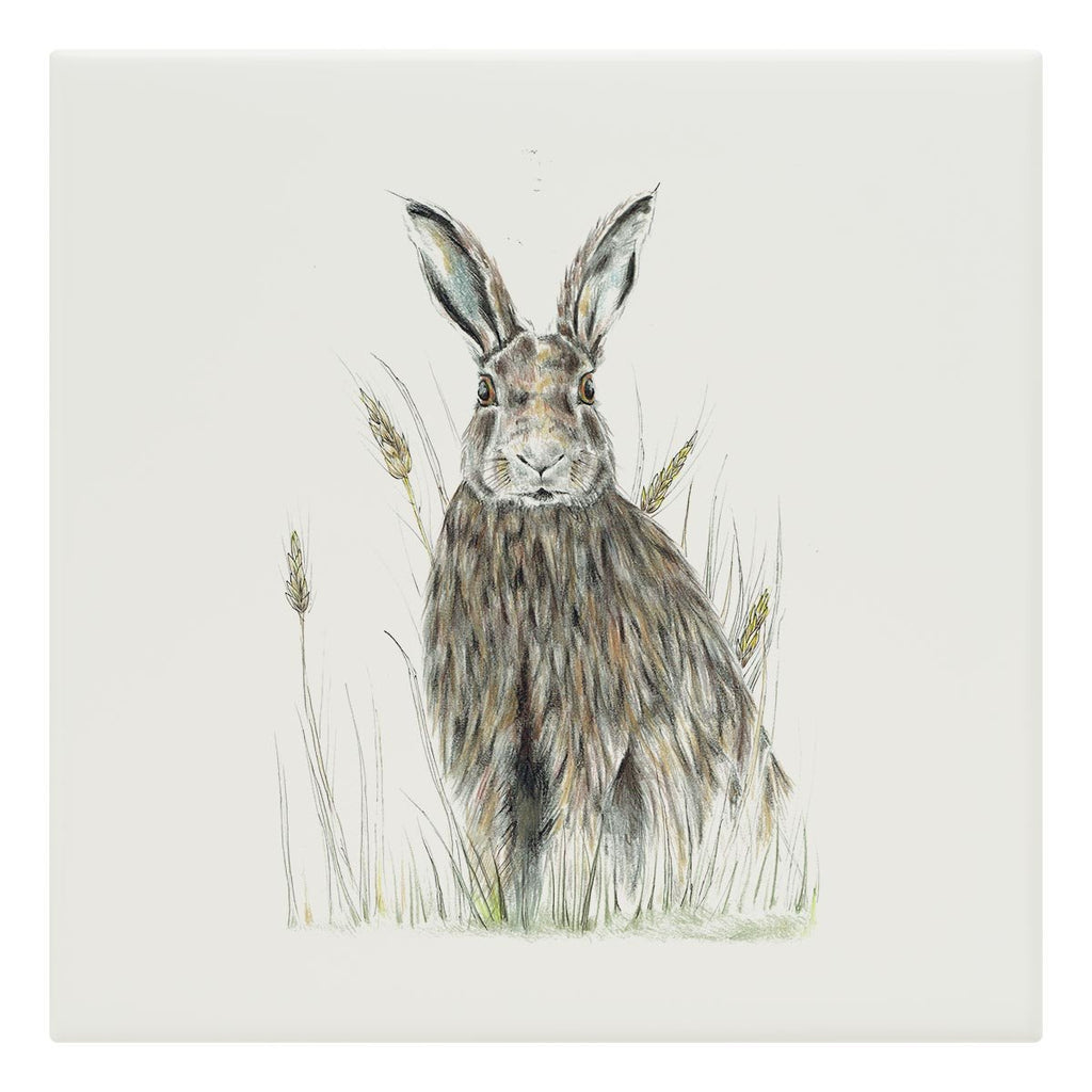 Hare in Wheat Tile - Countryman John