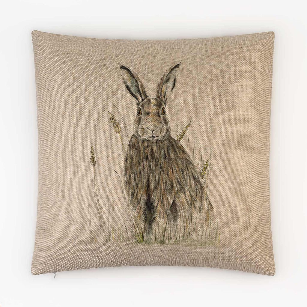 Hare in Wheat Cushion