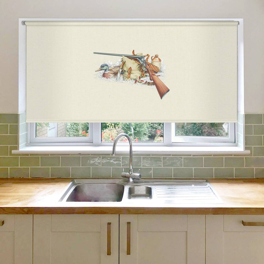 Shotgun and Mallard Roller Blind