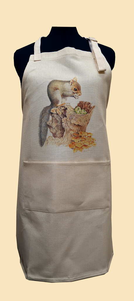 Grey Squirrel Apron