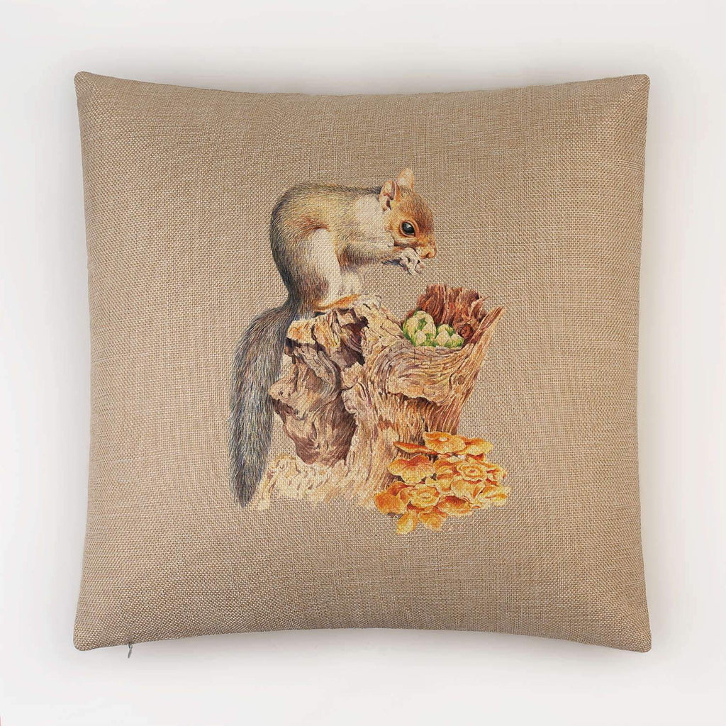 Grey Squirrel Cushion - Countryman John