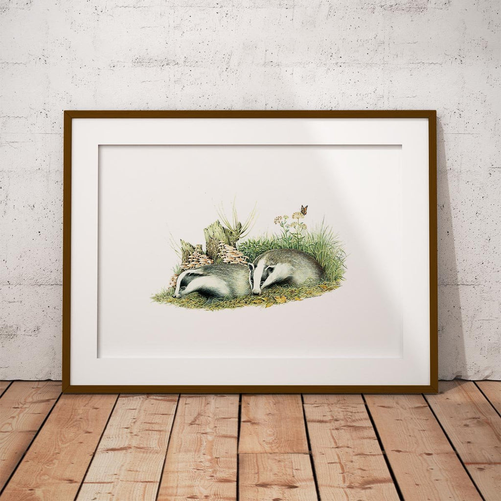 Badger Cubs Wall Art Print - Countryman John