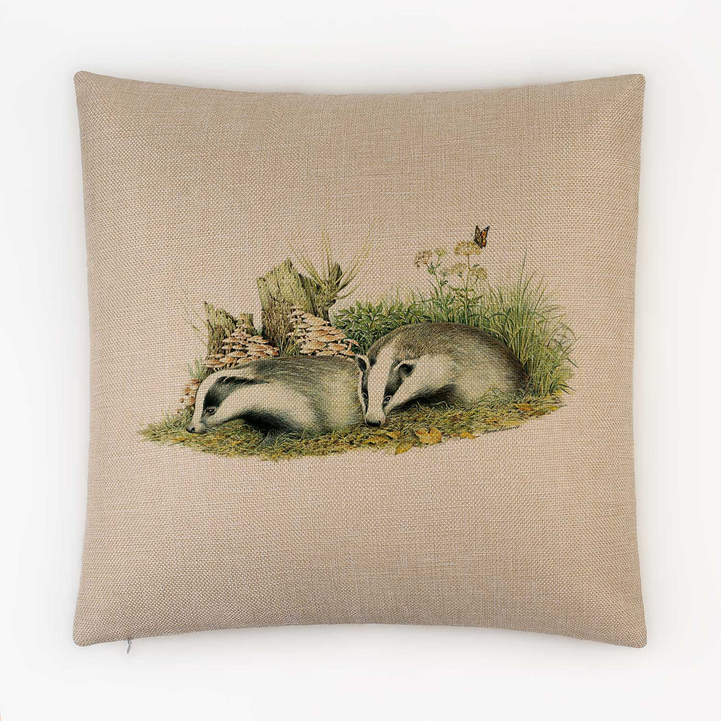 Badger Cubs Cushion - Countryman John