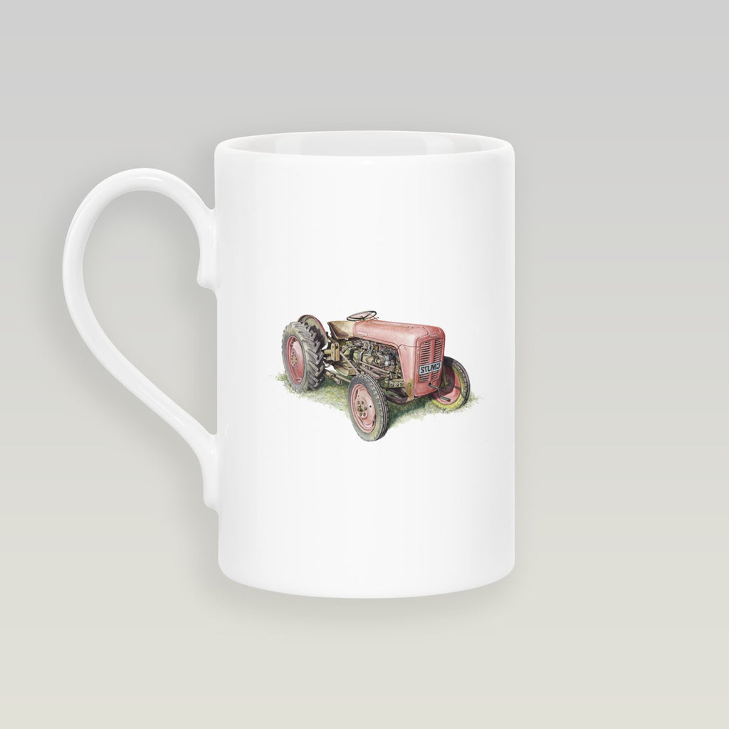 Red Fergusson Tractor Slim Mug - Countryman John