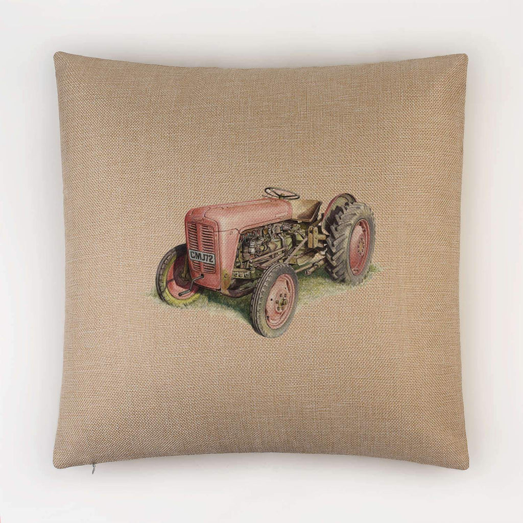 Red Fergusson Tractor Cushion - Countryman John