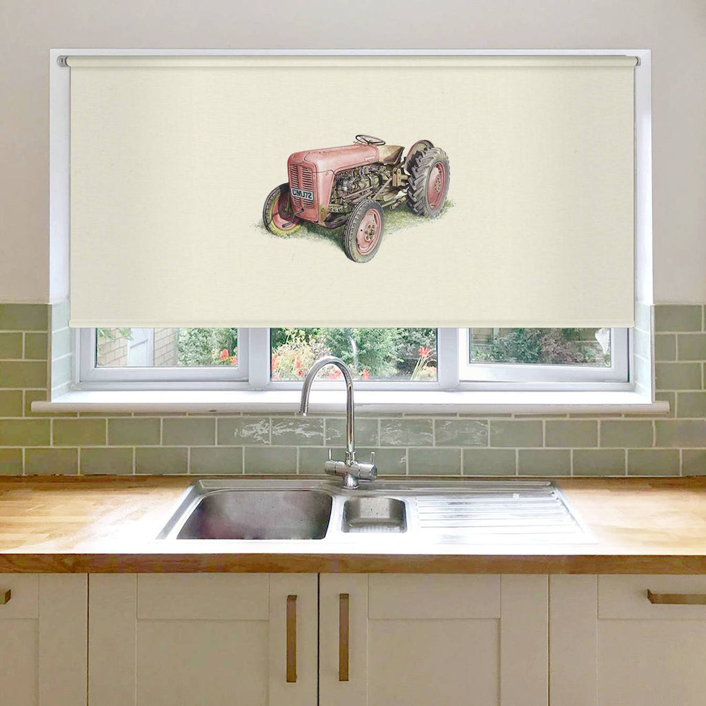 Red Fergusson Tractor Roller Blind