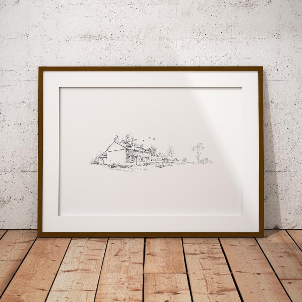 Country Cottages Wall Art Print - Countryman John